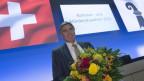 Blumen für den frischgewählten LDP-Nationalrat Eymann
