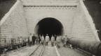 Das Südportal des Hauenstein-Basistunnels in Trimbach ist 1912 noch im Bau.