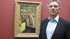 Direktor Matthias Frehner vor «Schlächterladen in Dordrecht» von Max Liebermann