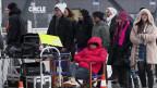 Dreharbeiten zu einem chinesischen Film im  Februar 2013 am Flughafen Zürich.