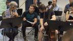 ein Schüler mitten im Basler Kammerorchester.