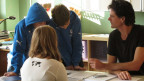 Lehrer und Schüler der Oberstufe im Berner Munzinger Schulhaus.