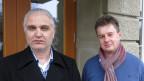 Haci Akgül, pflegerischer Leiter allgemeinpsychiatrische Intensiv-Abteilung UPK (links), und Peer Claude S.