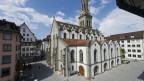 St. Galler Altstadt mit St. Laurenzenkirche - ein Magnet für Touristen.