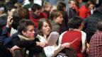 Jugendliche am letzten Taizé-Treffen in der Schweiz in Genf.