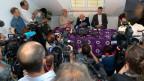 David Goodalls letzter Auftritt in der Öffentlichkeit zog zahlreiche Medienschaffende an.