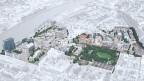 Modellbild des geplanten Quartiers auf dem Klybeck-Areal.