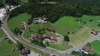 Luftaufnahme von Mitholz (BE).