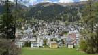 Davos aus der Vogelperspektive.