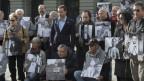 Ehemalige Verdingkinder und Opfer von fürsorgerischen Massnahmen machen 2014 in Bern auf ihr Schicksal aufmerksam.