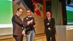 Regierungsräte Marc Mächler und Stefan Kölliker auf Podium
