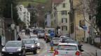 Pförtneranlage für Verkehrs aus AR an Grenze Stadt St. Gallen