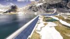 Die geplante Solaranlage auf der Muttsee Staumauer soll im Sommer 2021 eröffnet werden