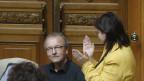 Mit Applaus wird Hans-Jürg Fehr im Nationalrat verabschiedet.
