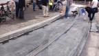Testgelände: Die neuen Tramgleise in Zürich-Höngg.
