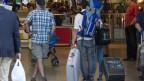 Passagiere am Flughafen Zürich