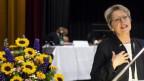 Rita Famos anlässlich der Wahl am Sonntag in Schaffhausen.