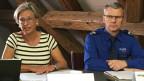 Die damals zuständige Regierungsrätin Rosmarie Widmer-Gysel (links) und Polizeikommandant Kurt Blöchlinger an einer Medienkonferenz.