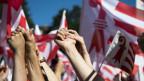 rotweisse Jura-Flaggen