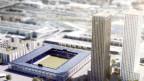 Visualisierung des Stadion-Projekts auf dem Hardturm