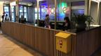Der Empfang bei Google erinnert an einen Postschalter.