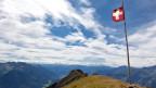 Bandiera da la Svizra sin ina muntogna.