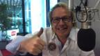Willy Tell en il studio dal Radio Rumantsch.