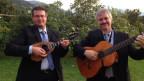 Il duo di Maracote cun lur instruments.