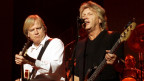 The Moody Blues durant in concert.