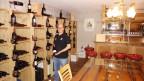 Florian Unterkalmsteiner en sia Stiva da vin.