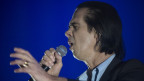 Nick Cave durant in concert