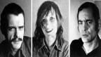"Jan-Carl Raspe, Gudrun Ensslin e Andreas Baader (da seniester) che han fatg suicidi en la schinumnada ""Todesnacht von Stammheim""."