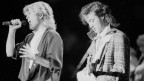 Il duo Wham! tar in concert 1985