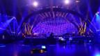 La tribuna è pronta per il spectacul da musica
