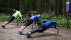 Sportists en in Vitaparcours.