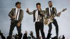 Bruno Mars durant in concert
