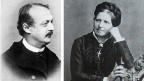 Fotografia dals dus auturs Conrad Ferdinand Meyer e Johanna Spyri