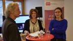 Walter Rosselli e Sara F. Hermann en discurs cun Esther Berther