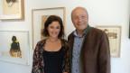 Silvana Candreia cun sies bab Linard Candreia.