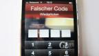 Passwort-Sperre beim Smartphone.