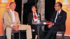 «Persönlich»-Gastgeber Christian Zeugin (rechts) mit dem deutschen Botschafter Otto Lampe und Chef-Concierge Cristina Bally.