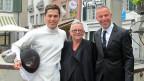 «Persönlich»-Gastgeber Dani Fohrler mit seinen Gästen Christa de Carouge und Max Heinzer.