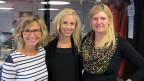 Drei blonde Engel im Studio: Morgenmoderatorin Ladina Spiess, «Treffpunkt»-Gast Nicole Berchtold und Produzentin Pascale Folke.