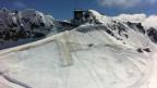Der Sonnenschutz für den Gletscher auf dem Gemsstock oberhalb von Andermatt.