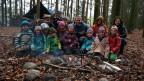 Reto Scherrer sendet aus dem Waldkindergarten.