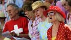 Inbrünstiges Hymne-Singen an der 1. August-Feier in Zürich.