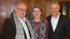 Urs Heller und Ursula Stämmer-Horst mit «Persönlich»-Gastgeber Dani Fohrler (v.l.n.r.).