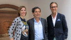 «Persönlich»-Gastgeber Christian Zeugin (rechts) mit Roger Schawinski und Caroline Fux.