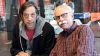 Pedro Lenz und Walter Däpp im Studio.
