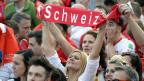 Fans der Schweizer Nationalmannschaft.